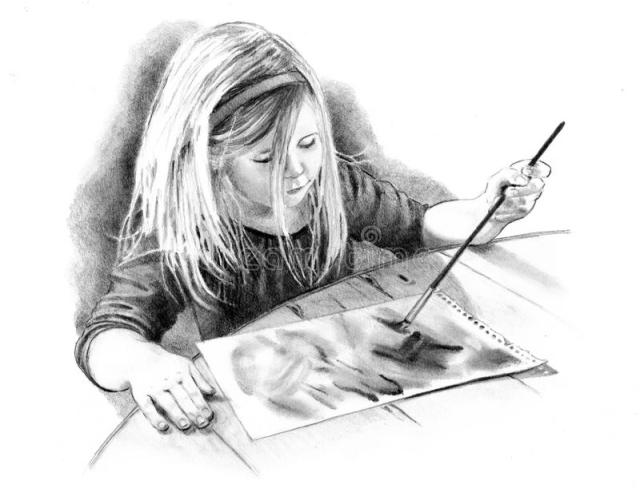 pencil-drawing-little-artist-girl-12712993